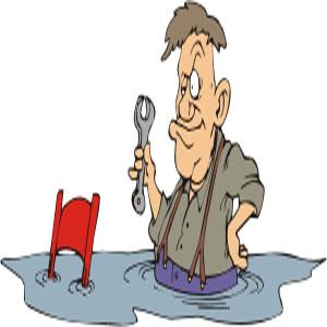 zum Beispiel als Klempner oder Installateur wenn der Wasserhahn undicht ist